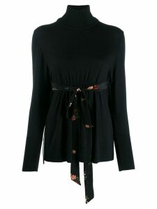 Simone Rocha tie waist sweatshirt - Black