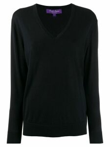 Ralph Lauren Collection V-neck knitted top - Blue