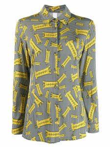 Ultràchic tiger print buttoned shirt - Black