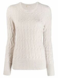 Drumohr cashmere cable knit jumper - NEUTRALS