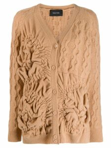 Simone Rocha textured cardigan - Brown