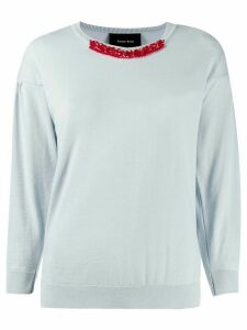 Simone Rocha bead and crystal embellished jumper - Blue