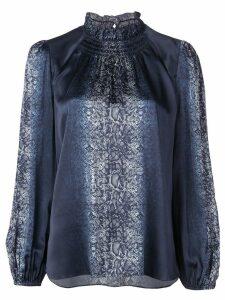 Elie Tahari Hanaa snakeskin print blouse - Blue