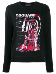 Dsquared2 printed logo sweatshirt - Black