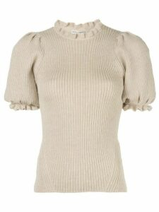 Ulla Johnson frill-trimmed knitted top - NEUTRALS
