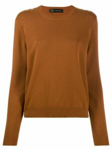 Versace Greek Key trim jumper - ORANGE