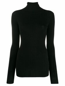 Tibi rollneck wool sweater - Black