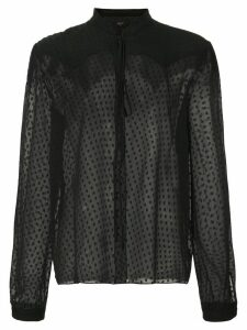 AMIRI silk polka dot blouse - Black