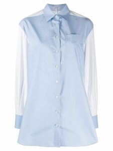 Loewe panelled tailored shirt - Blue