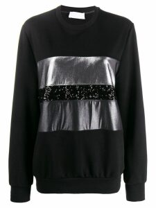 No Ka' Oi sequin embroidered sweatshirt - Black