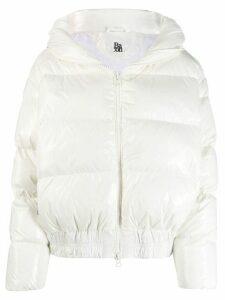 Bacon zipped puffer jacket - White