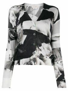Alexander McQueen floral print cardigan - Black