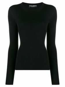 Dolce & Gabbana ribbed fitted long-sleeved top - Black