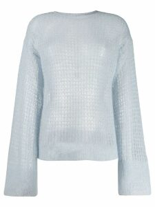 Genny open knit jumper - Blue