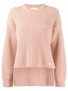 Genny ribbed design jumper - NEUTRALS