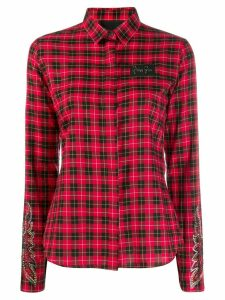 Philipp Plein fitted plaid shirt - Red