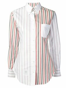 Thom Browne Wide Stripe Flannel Shirt - White