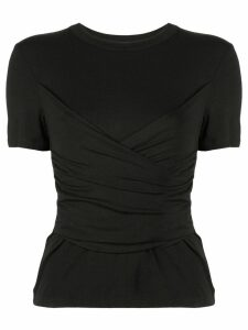 Alexis slim-fit ruched top - Black