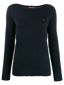 Tommy Hilfiger logo embroidered jersey top - Blue