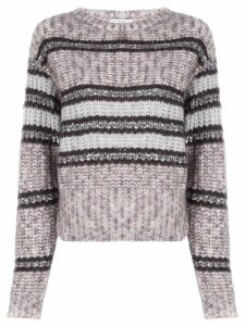 Brunello Cucinelli chunky knit jumper - Brown