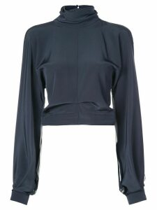 Cushnie sheer silk blouse - Blue