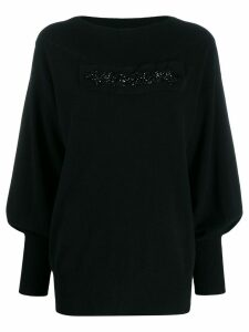 P.A.R.O.S.H. embellished detail sweater - Black