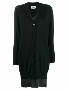 Mm6 Maison Margiela layered knitted dress - Black