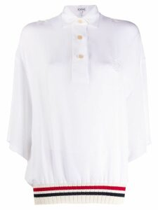 Loewe ribbed trim polo shirt - White