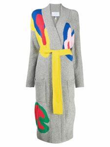 Mira Mikati multi-coloured longline cardigan - Grey