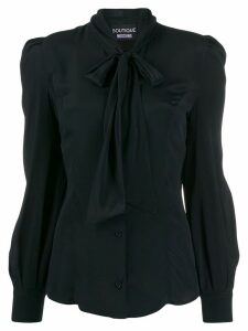 Boutique Moschino pussy bow blouse - Black