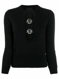 Philipp Plein PP logo pullover - Black