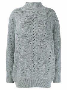 Alberta Ferretti high neck sweater - Grey