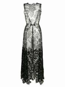 Vera Wang long lace blouse - Black