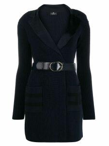 Elisabetta Franchi belted knitted dress - Blue