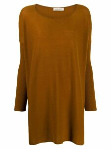 Gentry Portofino oversized cashmere jumper - Brown