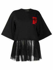 Brognano pleated detail T-shirt - Black
