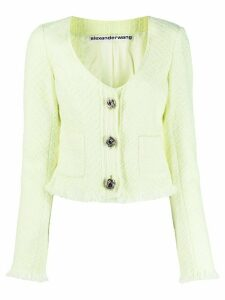 Alexander Wang V-neck tweed cardigan - Green