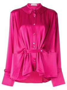 Palmer//Harding satin gathered blouse - PINK