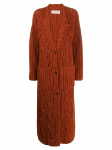 Gentry Portofino long cashmere cardigan - ORANGE