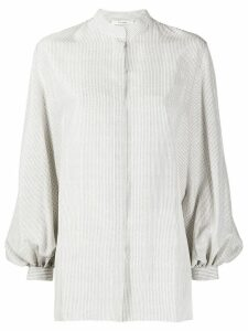 The Row pin-stripe blouse - White