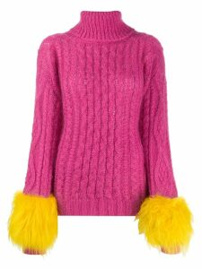 Prada turtleneck knitted sweater - PINK