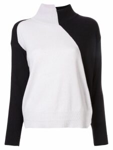 Lorena Antoniazzi asymmetric colour block jumper - Black