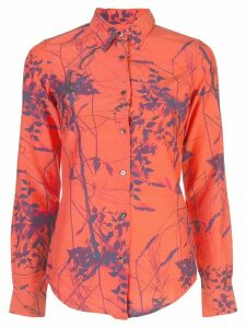 Sara Roka Monica leaf printed blouse - ORANGE