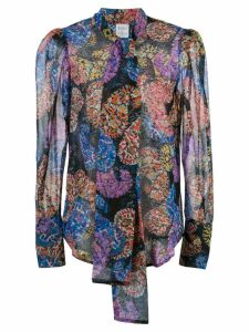 Sara Roka Thiffettee silk paisley blouse - Blue