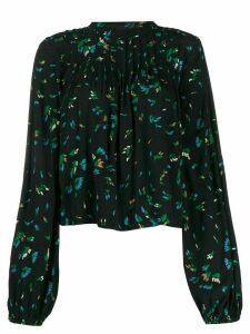 GANNI bluebell printed blouse - Black