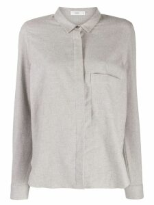 Closed plain fitted shirt - Grey