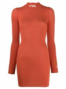 Heron Preston stretch jersey dress - ORANGE