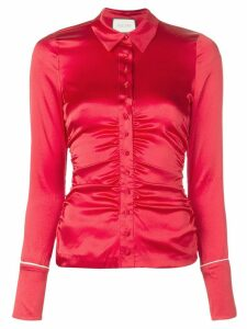 Alexis slim-fit ruched top - Red