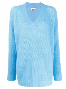GANNI oversized knitted jumper - Blue