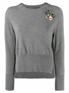 Marc Jacobs embellished long-sleeve sweater - Grey